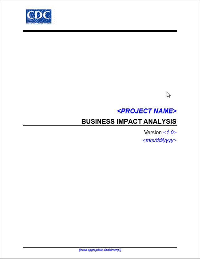 Business impact analysis template download document wajeb